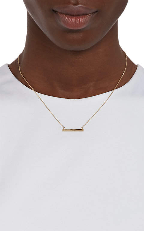 Loren Stewart Women's Gold Baby Bar Pendant Necklace