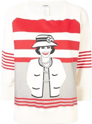 Chanel Pre Owned 2001s Mademoiselle Long Sleeve Tops Sweatshirt
