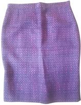 Carolina Herrera Purple Silk Skirt for Women