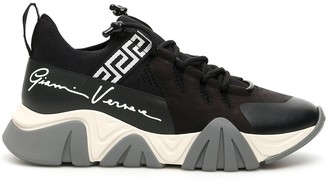 Versace Grace Key Print Chunky Sole Sneakers