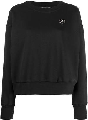 adidas by Stella McCartney Logo Print Crew Neck Sweatshirt