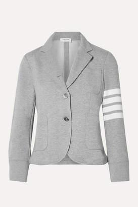 Thom Browne Striped Cotton-jersey Blazer - Light gray