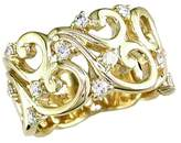 Effy Jewelry Effy D'Oro 14K Yellow Gold Diamond Filigree Ring, 0.41 TCW
