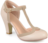 Journee Collection Nude Olina T-Strap Pump