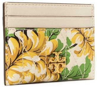 Tory Burch Kira Chevron Floral Card Case