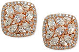 Giani Bernini Cubic Zirconia Halo Cluster Stud Earrings, Created for Macy's