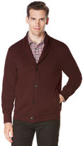 Perry Ellis Long Sleeve Jacquard Cardigan