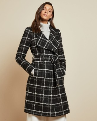 Ted Baker Checked Belted Wrap Coat
