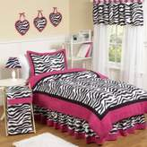 JoJo Designs Sweet Funky Zebra Twin 4-Piece Comforter Set in Pink