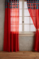 Anthropologie Embroidered Diamond Curtain