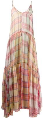 Forte Forte plaid print silk dress