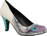Women's T.U.K. Original Footwear Peacock Feather Heel