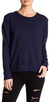 Sundry Distressed Fleece Sweatshirt