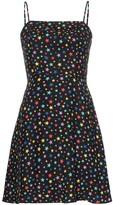 HVN Nora star print mini dress