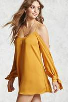Forever 21 FOREVER 21+ Satin Open-Shoulder Dress