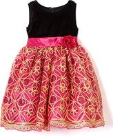 Fuchsia Sequin A-Line Dress - Infant Toddler & Girls