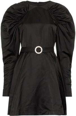 Rotate by Birger Christensen Puff-Sleeve Belted Mini Dress