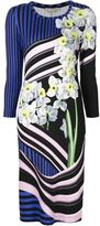 Mary Katrantzou 'Stripe Bouquet' print dress - women - Spandex/Elastane/Viscose - S