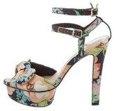 Loeffler Randall Floral Platform Sandals
