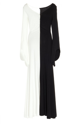 A.W.A.K.E. Mode Contrast Stretch-Jersey Maxi Dress