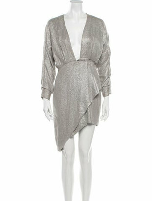 MARKARIAN V-Neck Knee-Length Dress Silver
