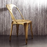Graham and Green Isaac Iron Chair In Brass