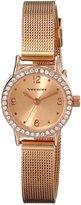 Vernier Women's VNR11182SS Crystal-Accented Watch