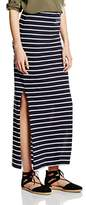Only Women's Onlabbie Stripe Long Slit Noos Skirt,34 (Manufacturer Size: X-Small)