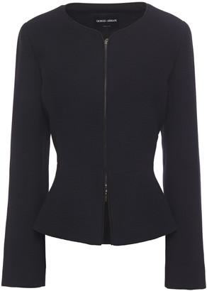 Giorgio Armani Textured Woven Peplum Jacket