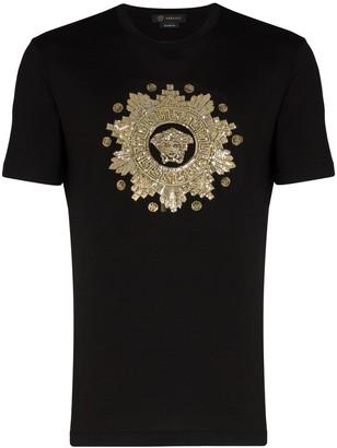 Versace sequinned Medusa motif T-shirt