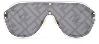 Fendi Ff Aviator Metal Sunglasses - Womens - Silver Multi