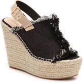 Penny Loves Kenny Women's Notch Wedge Sandal -Black