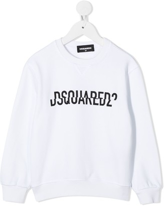 DSQUARED2 Split Logo-Print Sweatshirt