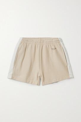 rag & bone - + Net Sustain City Organic Cotton-jersey Shorts - Neutrals