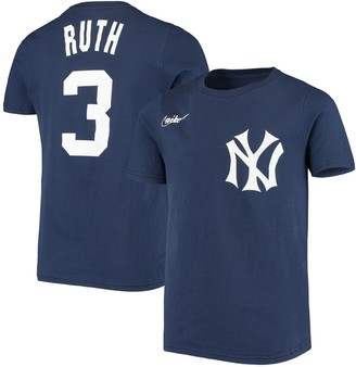 Nike Youth Babe Ruth Navy New York Yankees Cooperstown Collection Player Name & Number T-Shirt