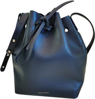 Mansur Gavriel Bucket Navy Leather Handbags