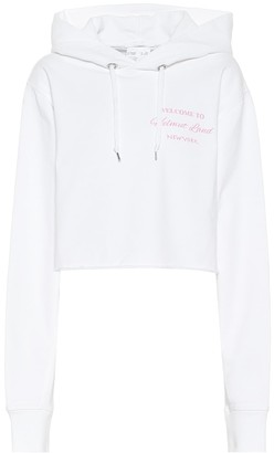 Helmut Lang Cropped cotton hoodie
