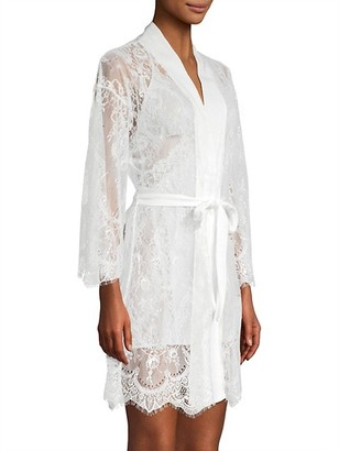 Jonquil Sara Scalloped Lace Short Robe