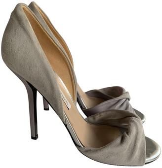 Diane von Furstenberg Grey Suede Sandals