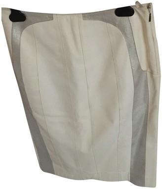 Loewe Ecru Leather Skirt for Women