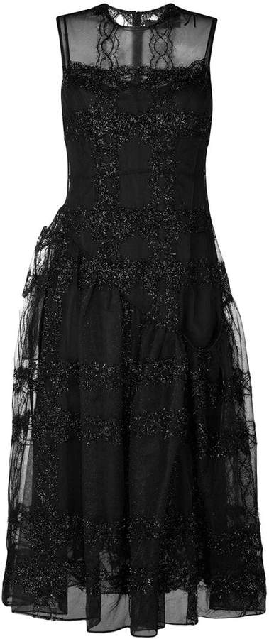 Simone Rocha embroidered tulle dress