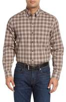 Cutter & Buck 'Ridge' Plaid Cotton Poplin Sport Shirt