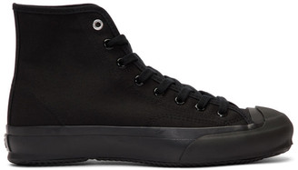 Y's Ys Black High Cut Lace-Up Sneakers