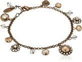 "Liz Palacios Piedras"" Swarovski Elements Crystal and Pearl Bracelet 8"" + 1"" Extender"