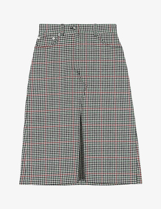 Maje Joldita check skirt