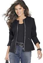 Creation L Rhinestone Decorated Jacket