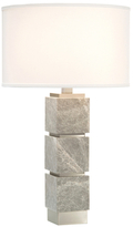 John-Richard Collection Stacked Cotton & Linen Table Lamp