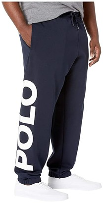 Polo Ralph Lauren Big & Tall Double Knit Tech Jogger Pants. (Aviator Navy Multi) Men's Casual Pants