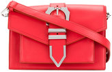 Versus buckled strap shoulder bag - women - Cotton/Calf Leather - One Size