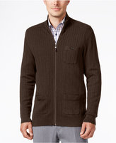 Tasso Elba Men's Big and Tall Full Zip Sweater, Only at Macy's